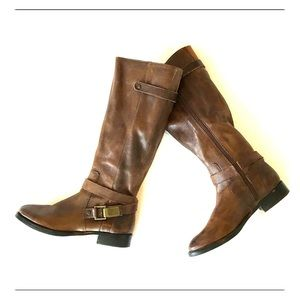 Arturo Chiang brown leather knee boots- womens 7M